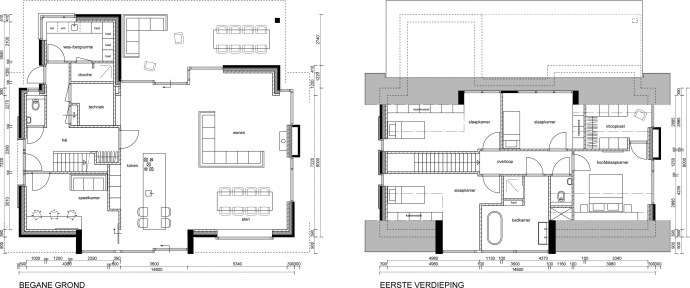 Borgerink architecten ontwerp woning huttemansweg 2a in for Ontwerp plattegrond