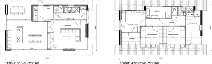 Borgerink architecten ontwerp woning huttemansweg 2 in enter for Ontwerp plattegrond